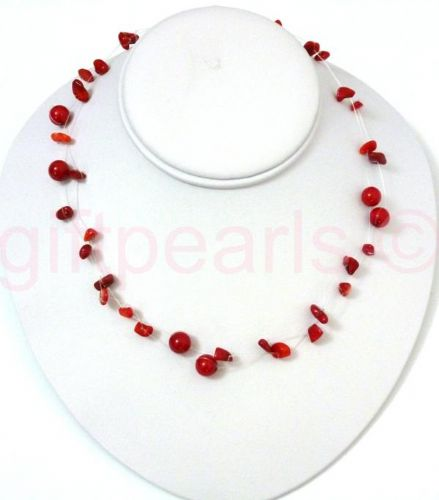 Red Coral 'ILLUSION' necklace